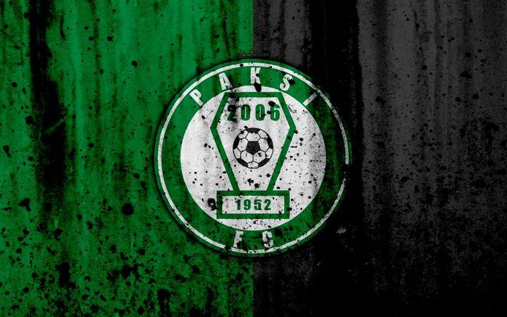 Download wallpapers 4k, FC Paksi, grunge, NB I, Hungarian Liga, soccer, football club, Hungary, Paksi, art, stone texture, Paksi FC