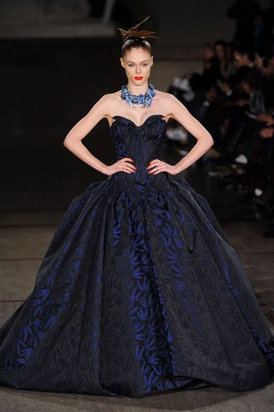 Zac Posen's showstopper Coco Rocha at New York Fashion Week Fall 2012