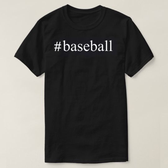 Hashtag Baseball Custom Shirts