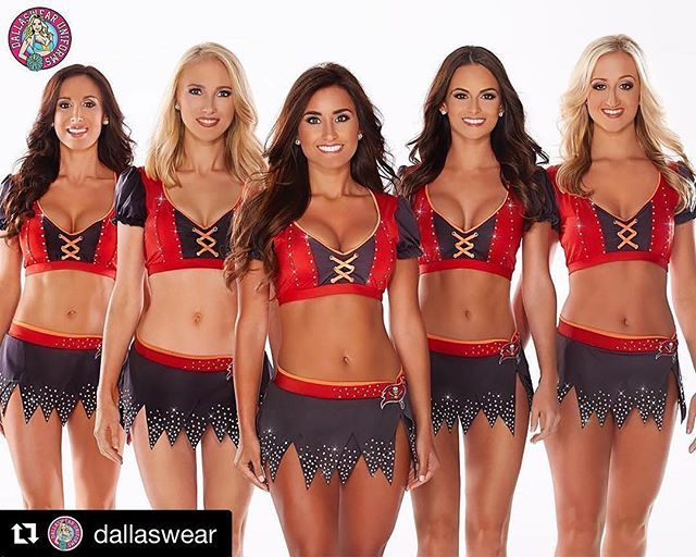 #Repost  ・・・ The Tampa Bay Buccaneers Cheerleaders look gorgeous in their Dallaswear Uniforms!  Be sure to check them out on the field.  #dallaswear #tbbcheerleaders #nfl #tampabaybucs #procheerleader #nflcheerleader #procheer #superbling