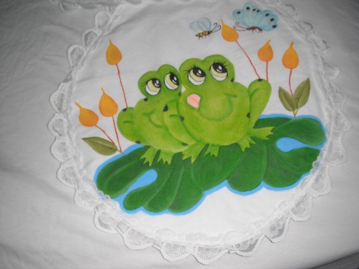Juegos de ba o pintados a mano trabajos realizados - Pintar bano con hongos ...