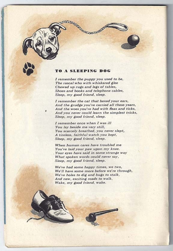 A 1945 Poem About Pet Friendship And Memories, Timeless