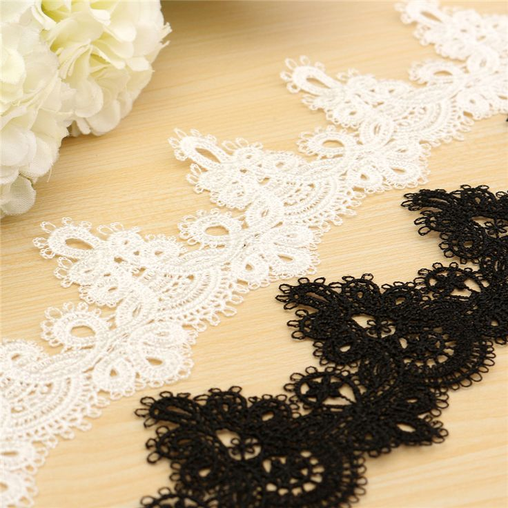 100% Polyester Sewing Craft Crochet Scallop Shape Net Lace Trim Clothes Embroidered Applique Decorative Ribbon Organza Lace-in Lace from Home & Garden on Aliexpress.com | Alibaba Group