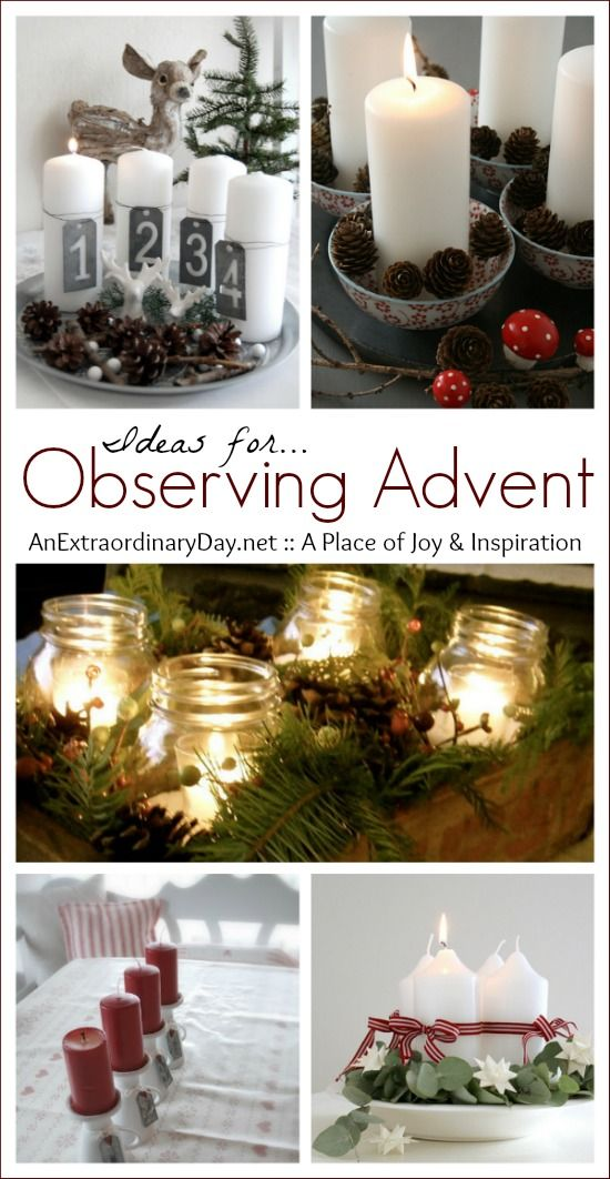 Observing Advent :: Ideas :: Taking Time to Breathe :: AnExtraordinaryDay.net
