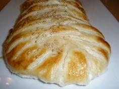 Trenza de jamón cocido y mozzarella | Cocinar en casa es facilisimo.com