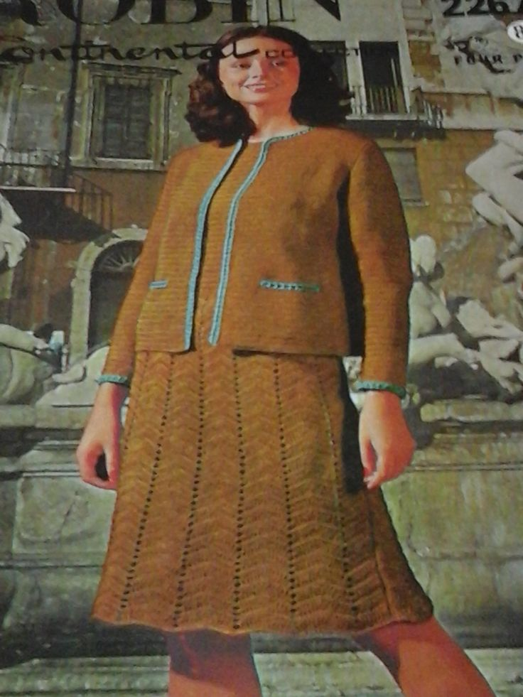 vintage ladies crochet two piece pattern by ANGELSTITCHING on Etsy