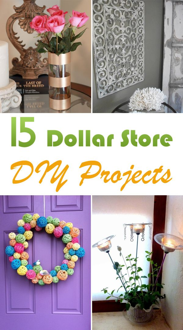 Here are 15 ideas of things to make from your dollar store purchases.