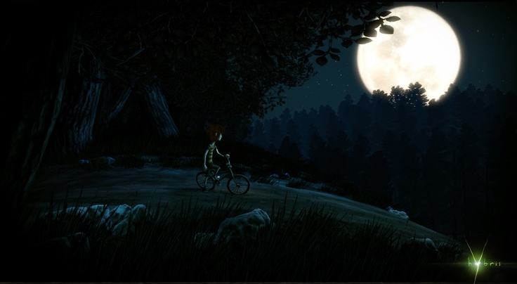 The forest scene in Hybris, our upcoming psychological platform-puzzle thriller.