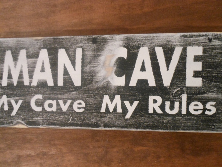 Man Cave Rustic Signs : Custom carved wood signs man cave with rustic border and outset