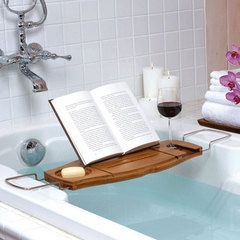 Now that's storing the necessary bath items! non tip wine glass holder. Brilliant! THIS IS A NECESSITY