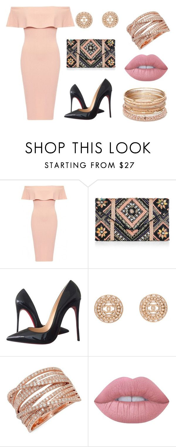 """Peach Love"" by alphashe on Polyvore featuring New Look, Christian Louboutin, Chanel, Kenza Lee, Lime Crime, Red Camel, chic, peach, classy and lady"
