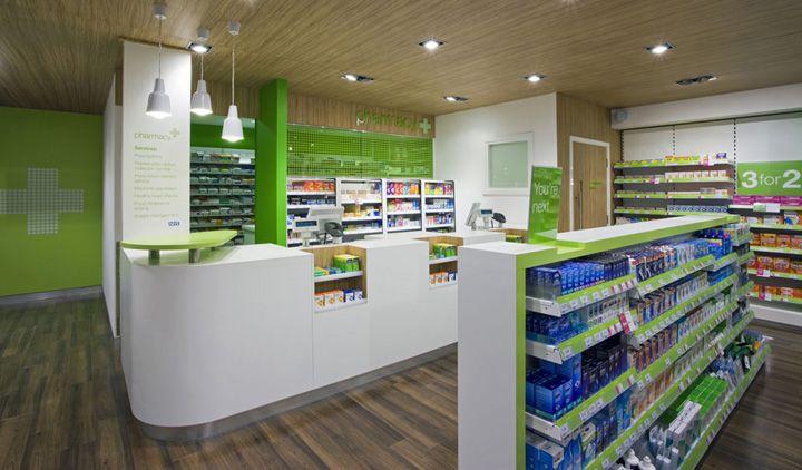 Pharmacy Design | Retail Design | Store Design | Pharmacy Shelving | Pharmacy Furniture | Superdrug store by Dalziel and Pow, London