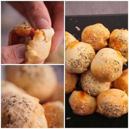"""750g vous propose la recette """"Pizza balls"""" accompagnée de sa version vidéo pour cuisiner en compagnie de Chef Damien et Chef Christophe."""