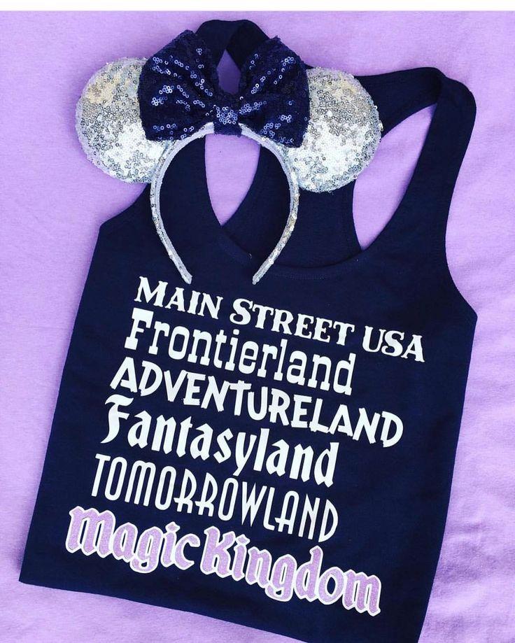 "Magic Kingdom Lands Tank - Main Street USA, Frontierland, Adventureland, Fantasyland, Tomorrowland, Magic Kingdom!!  Great for Disney Vacation!  (@deepintheheartofdisneytees) on Instagram: ""Who's ready for a day at Magic Kingdom?  Thank you @simplydarlingus for taking this adorable…"""