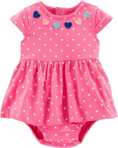 f69091099 Baby Girl Polka Dot Heart Sunsuit from Carters.com. Shop clothing &  accessories from a trusted name in kids, toddlers, and baby clothes.