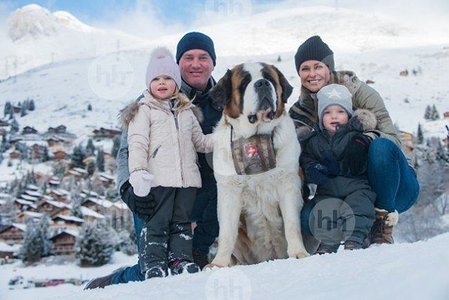 Princess Madeleine and her family in on vacation the Swiss Alps Credits the duchessofvastergotlandprincess