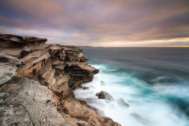 Sandstone cliffs at Cape Solander, Kurnell NSW Australia.