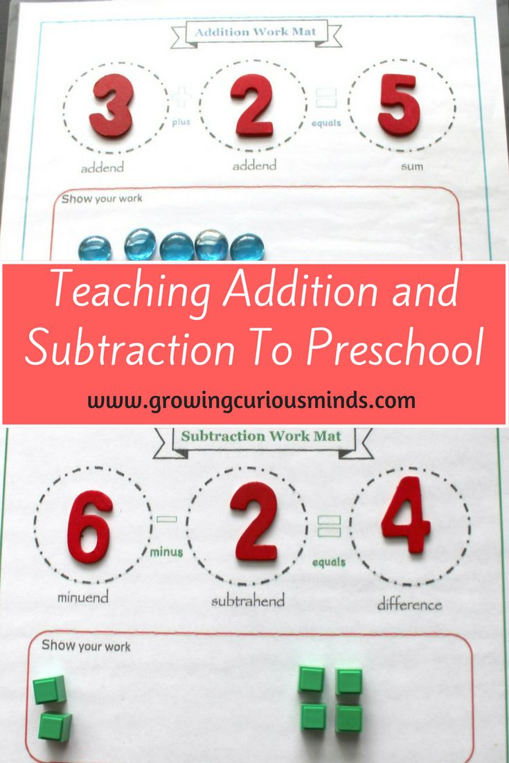 Addition And Subtraction Math Lessons Teaching Math Education Math