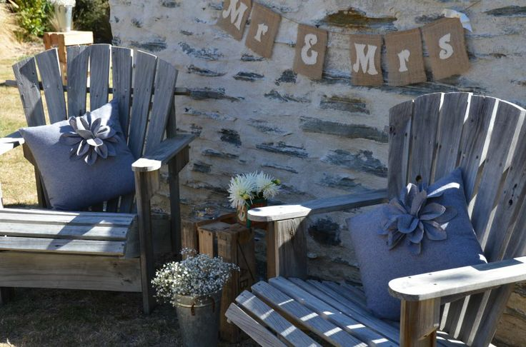 Queenstown Wedding Hire Adirondack Chairs and Cushions