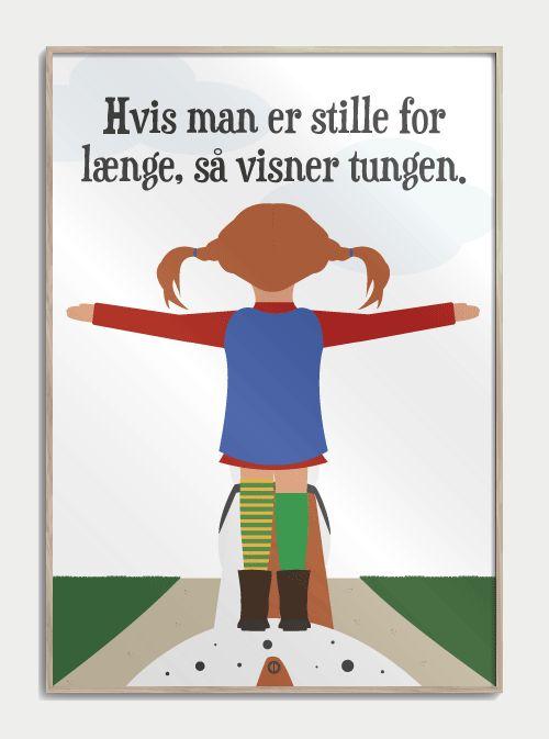 Citatplakat inspireret af 'Pippi Langstrømpe'
