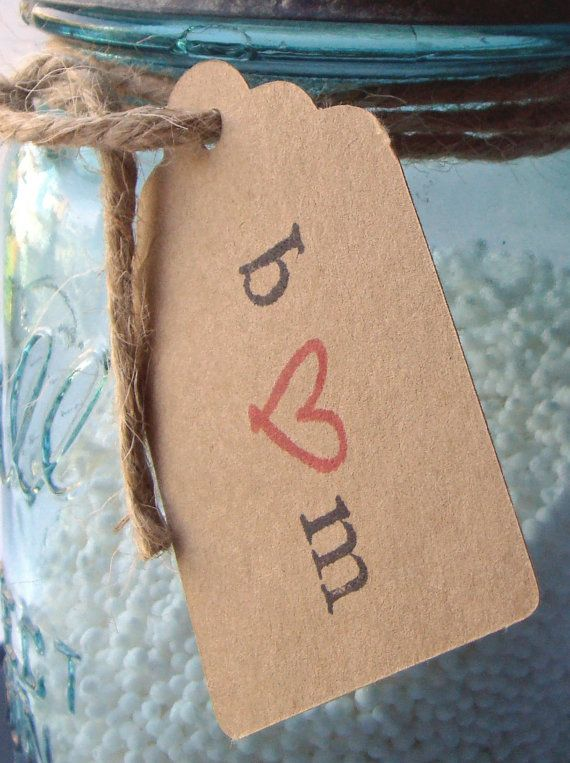 50 Small Personalized Wedding Favor Tags by chocolatecanary