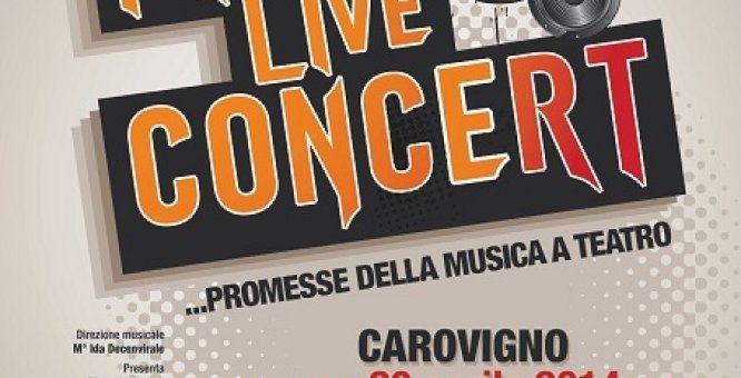 """20 apr. Free Live Concert - """"Free Live Concert"""" concerto di giovani artisti emergenti creato dalla Prosit Eventi in collaborazione con il M° Ida Decenvirale. Location: Teatro Italia  via Monte Grappa"""