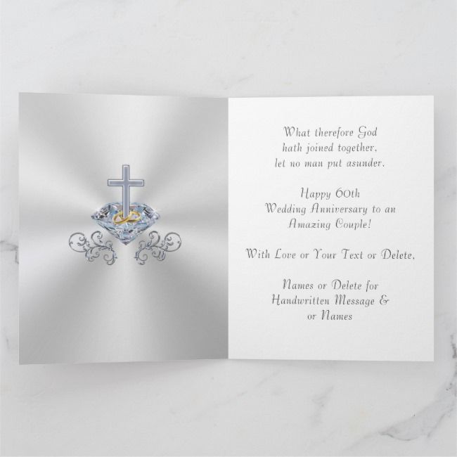 Christian 60th Wedding Anniversary Cards Zazzle Com Anniversary Card For Parents Wedding Anniversary Cards 60th Wedding Anniversary Gifts