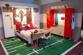 Dormitorio para niños tema deportes
