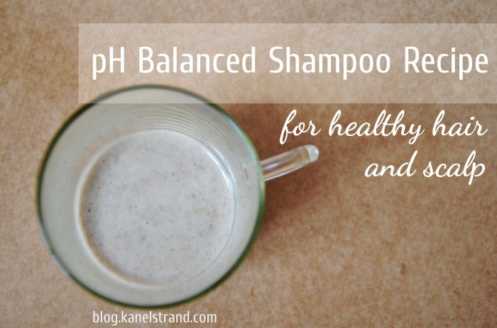 pH balanced, homemade shampoo recipe for healthy hair and scalp. Ditch the baking soda for good!!