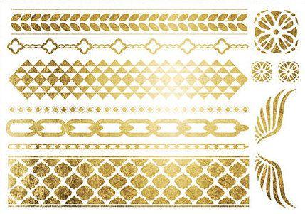 Metallic Tattoo GoldTattoo SchmuckTattoo Silber von MetallicTat, $18.00