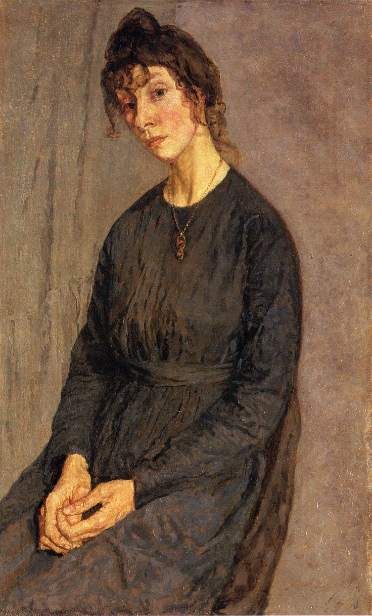 Portrait of Chloe Boughton-Leigh, Gwen John. Their are several beautiful Gwen john paintings in Auckland galleryy and they hang one!