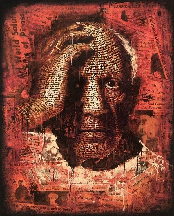 Typography Portrait Series - Picasso by cris wicks, via Behance