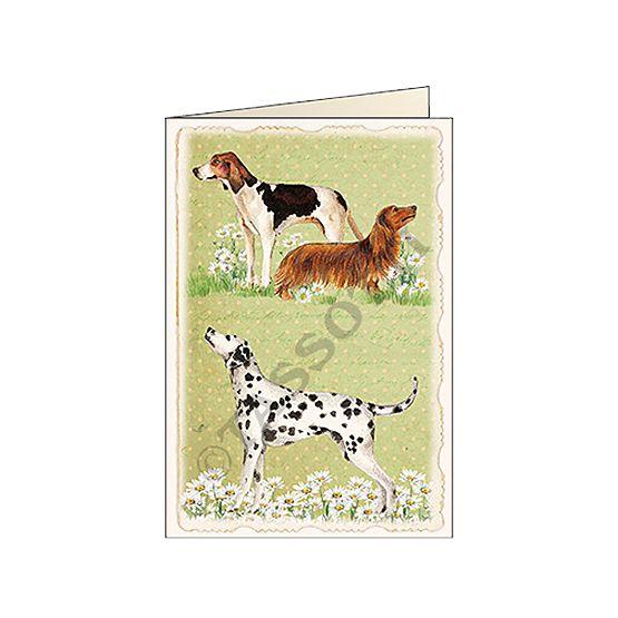 """Biglietti d'auguri Tassotti """"Cani vintage"""" - Greeting cards Tassotti """"Cani vintage"""" - Tarjetas de felicitaciòn Tassotti """"Cani vintage"""""""
