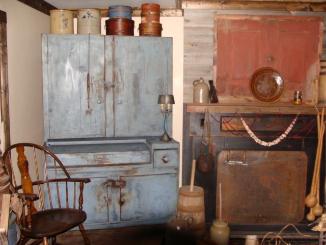hubby made my new computer cupboard,I love it !!: Primitive Stuff, Blue Primitive, Primitive Decorating, Primitive Colonial Rooms, Primitive Style, Primitive Folk Art, Primitive Design, Rustic Primates, Primitive Items