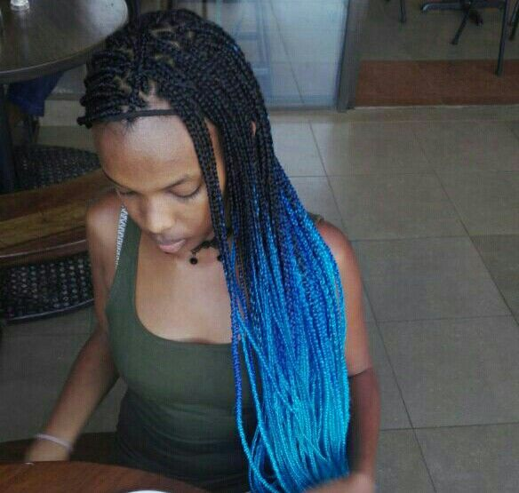 Superb The 25 Best Ideas About Blue Box Braids On Pinterest Purple Short Hairstyles For Black Women Fulllsitofus
