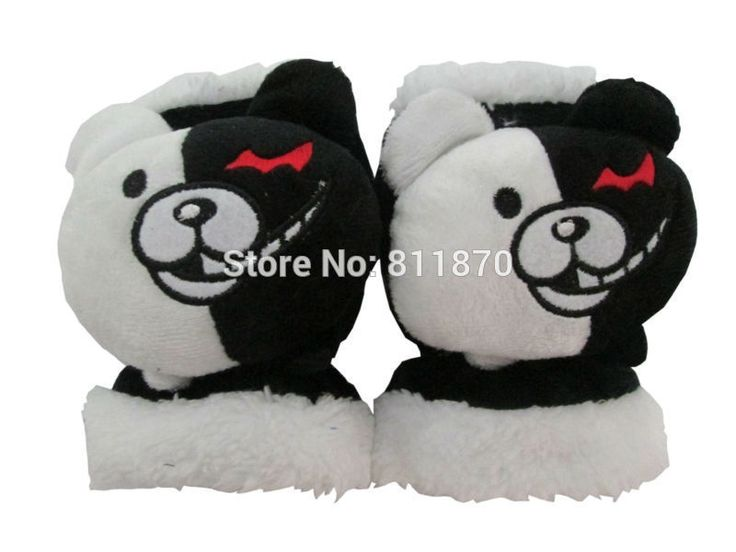 >> Click to Buy << Danganronpa: Trigger Happy Havoc Cosplay Monokuma Cartoon Logo Soft Plush Gloves Mittens #Affiliate