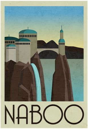Naboo Retro Travel Poster at AllPosters.com