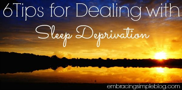 Are you sleep deprived? You'll want to read about these 6 tips for dealing with sleep deprivation to help you power through your day and remain productive.