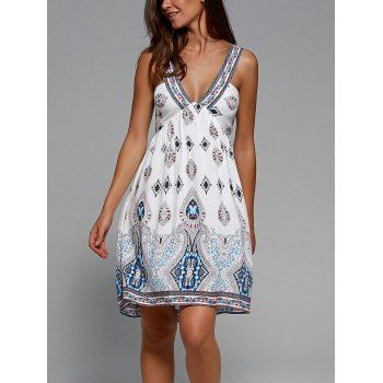SHARE & Get it FREE | Plunging Neck Sleeveless Tribal Print DressFor Fashion Lovers only:80,000+ Items·FREE SHIPPING Join Dresslily: Get YOUR $50 NOW!