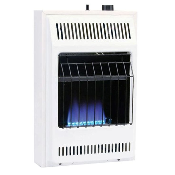 10,000 BTU/hr Blue Flame Propane Gas Heater with Automatic Thermostat, White