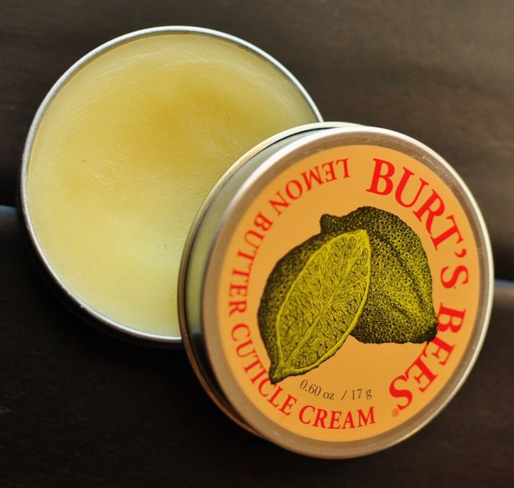 Burt's Bees Lemon Butter Cuticle Cream saved my nails!