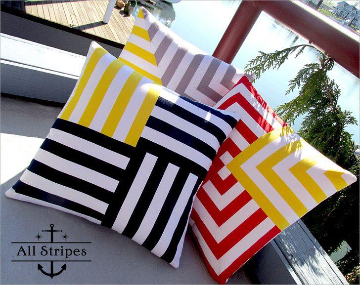 Nautical & Nice: Spun Stripes Pillow Trio | Sew4Home
