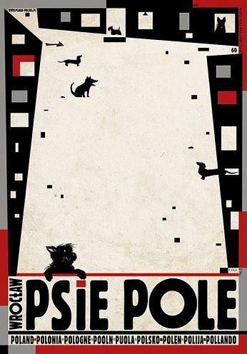 Psie Pole, Wrocław, plakat z serii Polska, Ryszard Kaja
