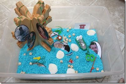 """All About Me Sensory Tub; """"family tree"""" from Etsy"""