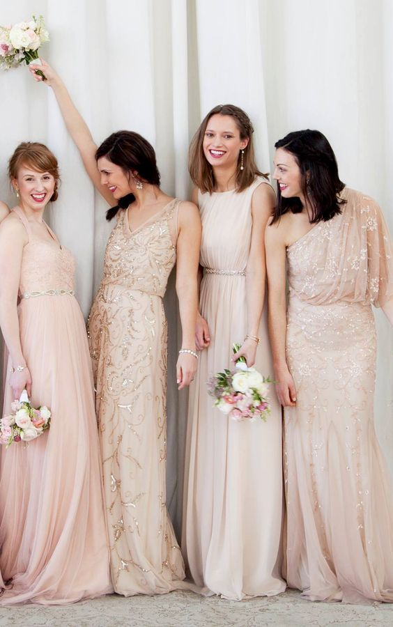 Blash + Sequins Bridesmaid Dresses