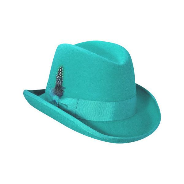 Men's Stacy Adams Wool Fedora (SAW566) - Mint ($53) ❤ liked on Polyvore featuring men's fashion, men's accessories, men's hats, green, mens wide brim fedora hats, mens fedora hats, mens wool fedora hats, mens wool hats and mens wool fedora
