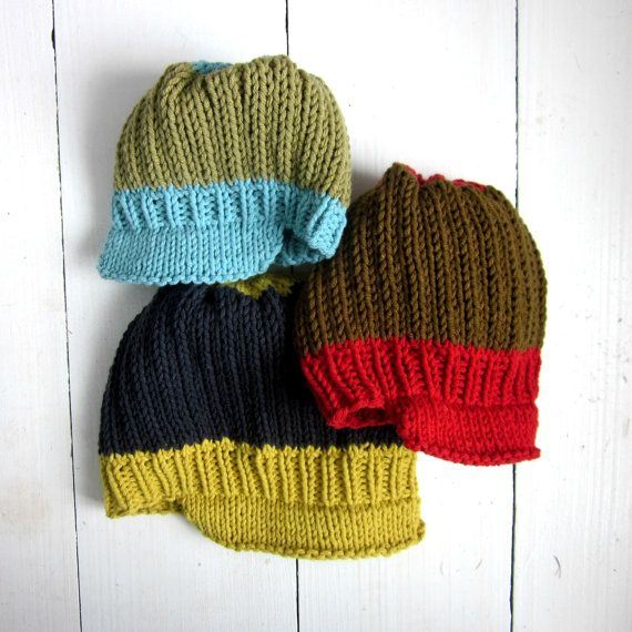 KNITTING PATTERN, baby newsboy hat, instant digital download, baby boy knitted hat pattern