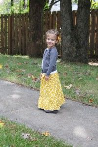 Toddler maxi skirt tutorial...could use this for g's much desired pajama skirt