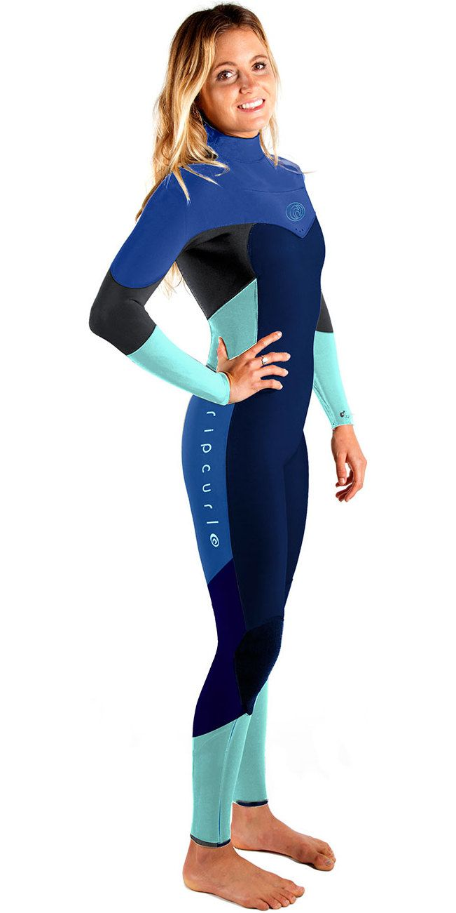 2017 Rip Curl Ladies Flashbomb 5/3mm Chest Zip Wetsuit NAVY WSM6GG