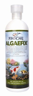 Brand New, MARS FISHCARE NORTH AMERICA, - POND CARE ALGAE FIX 16OZ (NO SHIP TO CANANA OR UK) (POND PRODUCTS - POND - WATER CARE) by MARS FISHCARE NORTH AMERICA,. $15.33. Brand New, MARS FISHCARE NORTH AMERICA, - POND CARE ALGAE FIX 16OZ (NO SHIP TO CANANA OR UK) (POND PRODUCTS - POND - WATER CARE)  Algaecide •Effectively controls many types of green or green water algae, string or hair algae and blanketweed in ponds that contain live plants. Controls existing algae and helps re...